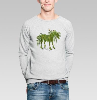 Konik - Купить мужские свитшоты с деревьями в Москве, цена мужских свитшотов с деревьями  с прикольными принтами - магазин дизайнерской одежды MaryJane
