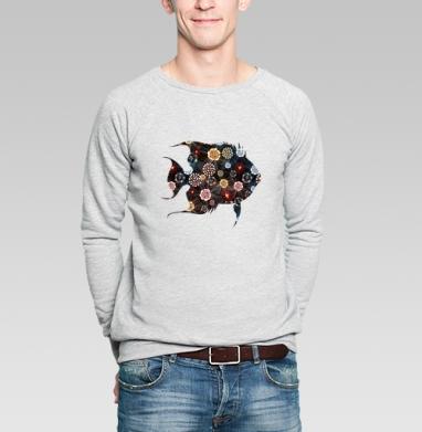 Орнаментальная рыба - Купить мужские свитшоты с летом в Москве, цена мужских свитшотов с летом  с прикольными принтами - магазин дизайнерской одежды MaryJane