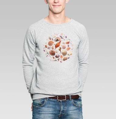Ракушки - Купить мужские свитшоты морские  в Москве, цена мужских свитшотов морских   с прикольными принтами - магазин дизайнерской одежды MaryJane