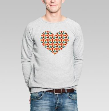 Retro - Купить мужские свитшоты с геометрическим рисунком в Москве, цена мужских свитшотов с геометрическим рисунком  с прикольными принтами - магазин дизайнерской одежды MaryJane