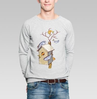 Скворцы - Купить мужские свитшоты с рыбой в Москве, цена мужских  с рыбой  с прикольными принтами - магазин дизайнерской одежды MaryJane