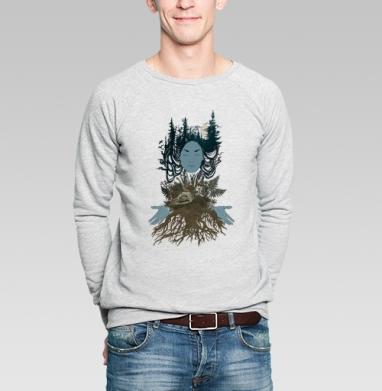 Сосновый лес - Купить мужские свитшоты с грибами в Москве, цена мужских свитшотов с грибами с прикольными принтами - магазин дизайнерской одежды MaryJane