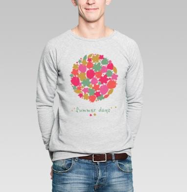 Summer days - Купить мужские свитшоты абстрактные в Москве, цена мужских свитшотов абстрактных  с прикольными принтами - магазин дизайнерской одежды MaryJane