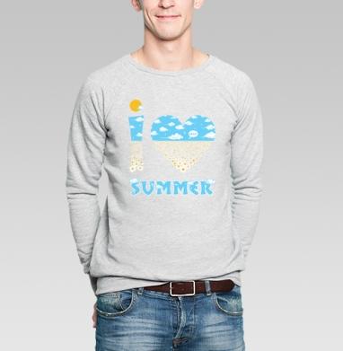 Summer_love - Купить мужские свитшоты с солнцем в Москве, цена мужских свитшотов с солнцем  с прикольными принтами - магазин дизайнерской одежды MaryJane