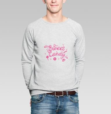 Sweet Candy Pink - Купить мужские свитшоты сладости в Москве, цена мужских свитшотов со сладостями  с прикольными принтами - магазин дизайнерской одежды MaryJane