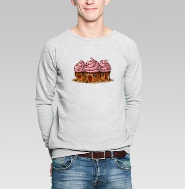 Sweet Home Cakes - Купить мужские свитшоты сладости в Москве, цена мужских свитшотов со сладостями  с прикольными принтами - магазин дизайнерской одежды MaryJane