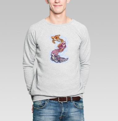 Три рыбки - Купить мужские свитшоты с рыбой в Москве, цена мужских свитшотов с рыбой  с прикольными принтами - магазин дизайнерской одежды MaryJane