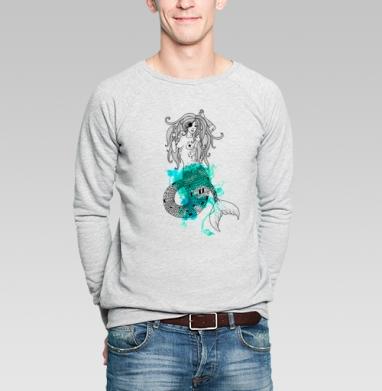 Тру русалка - Купить мужские свитшоты с пиратом в Москве, цена мужских свитшотов пиратских с прикольными принтами - магазин дизайнерской одежды MaryJane