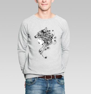 Волчица - Купить мужские свитшоты с собаками в Москве, цена мужских свитшотов с собаками  с прикольными принтами - магазин дизайнерской одежды MaryJane