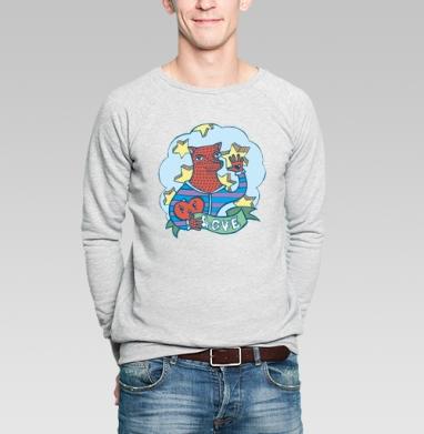 Волчик - Купить мужские свитшоты романтика в Москве, цена мужских  романтических  с прикольными принтами - магазин дизайнерской одежды MaryJane