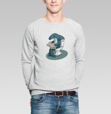 Акула - Купить мужские свитшоты с рыбой в Москве, цена мужских свитшотов с рыбой  с прикольными принтами - магазин дизайнерской одежды MaryJane