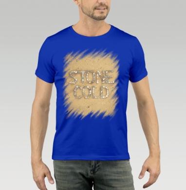 Футболка мужская синяя - STONE COLD