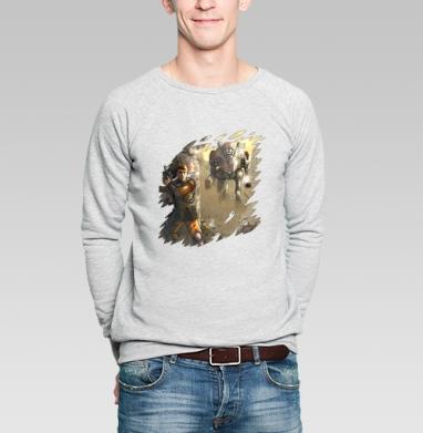 Не равный бой - Купить мужские свитшоты военные в Москве, цена мужских свитшотов военных с прикольными принтами - магазин дизайнерской одежды MaryJane