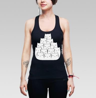 Борцовка женская чёрная рибана 200гр - White Cats