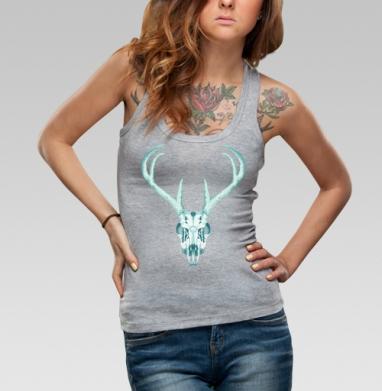 Борцовка женская сер.меланж рибана 200гр - Deer Skull + Neon