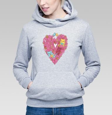 Котиколюбовь - Купить детские толстовки для влюбленных в Москве, цена детских толстовок дли влюбленных  с прикольными принтами - магазин дизайнерской одежды MaryJane