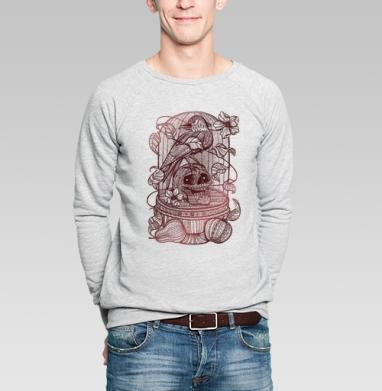 Ворон в хрустальной клетке - Купить мужские свитшоты свобода в Москве, цена мужских  свобода  с прикольными принтами - магазин дизайнерской одежды MaryJane
