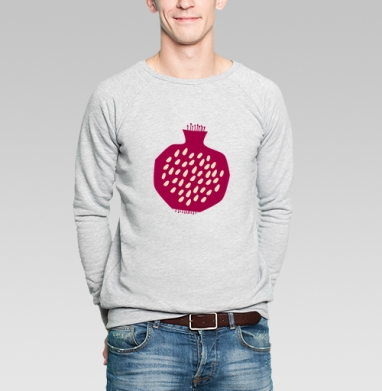 Гранатовый всплеск - Купить мужские свитшоты с летом в Москве, цена мужских  с летом  с прикольными принтами - магазин дизайнерской одежды MaryJane