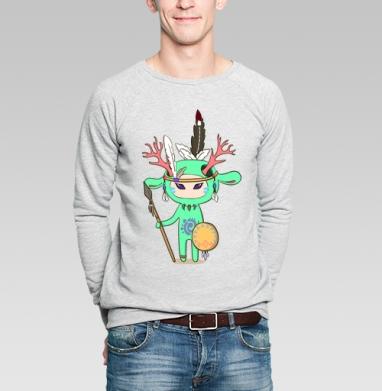 Олень - Купить мужские свитшоты с индейцами в Москве, цена мужских свитшотов с индейцами  с прикольными принтами - магазин дизайнерской одежды MaryJane