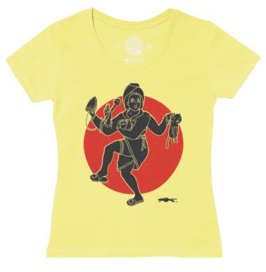 Футболка женская желтая, желтый - Интернет магазин футболок №1 в Москве