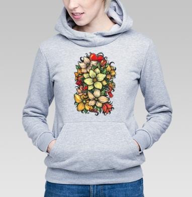 Цветы и любовь - Купить детские толстовки паттерн в Москве, цена детских толстовок с паттерном  с прикольными принтами - магазин дизайнерской одежды MaryJane