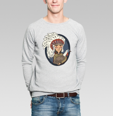 Индеец и индейка - Купить мужские свитшоты с людьми в Москве, цена мужских  с людьми  с прикольными принтами - магазин дизайнерской одежды MaryJane