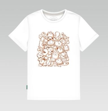 Детская футболка белая 160гр - Зомби против растений