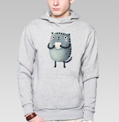 Кот I♥kill - Купить толстовку с капюшоном мужскую