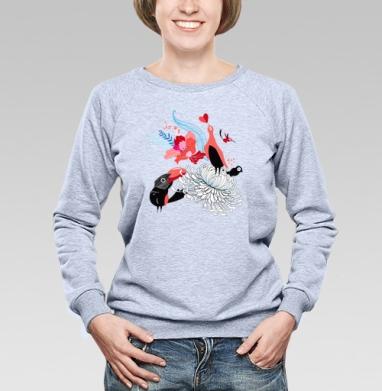 Влюблённые птицы - Купить детские свитшоты паттерн в Москве, цена детских свитшотов с паттерном  с прикольными принтами - магазин дизайнерской одежды MaryJane