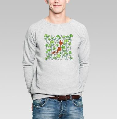 Летняя лисичка - Купить мужские свитшоты с деревьями в Москве, цена мужских свитшотов с деревьями  с прикольными принтами - магазин дизайнерской одежды MaryJane