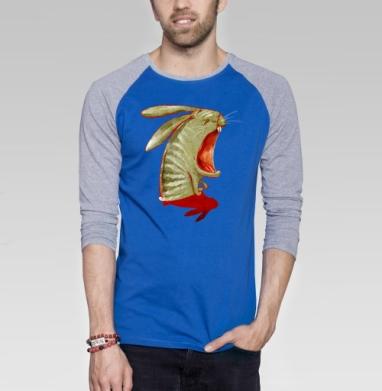 Кроль2. перерождение - Футболка мужская с длинным рукавом синий / серый меланж, персонажи, Популярные