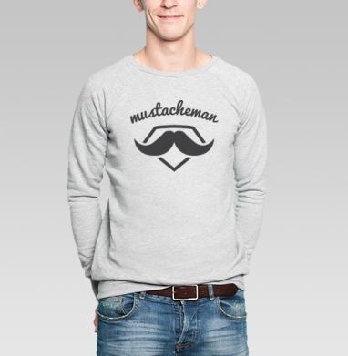 Человек-усы - Купить мужские свитшоты с символами в Москве, цена мужских свитшотов с символом с прикольными принтами - магазин дизайнерской одежды MaryJane