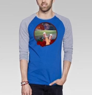We need a Doctor - Футболка мужская с длинным рукавом синий / серый меланж, графика, Популярные