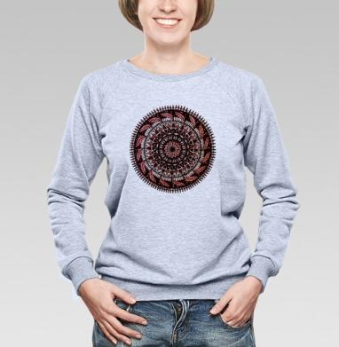 Красная растительная мандала - Купить детские свитшоты паттерн в Москве, цена детских свитшотов с паттерном  с прикольными принтами - магазин дизайнерской одежды MaryJane
