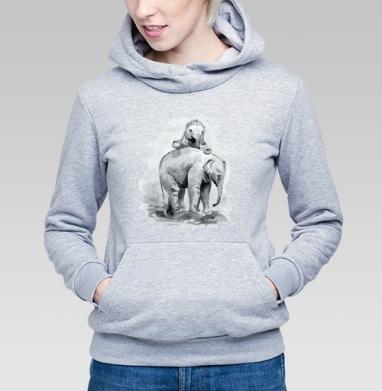 Слонята - Купить детские толстовки с акварелью в Москве, цена детских толстовок с акварелью  с прикольными принтами - магазин дизайнерской одежды MaryJane