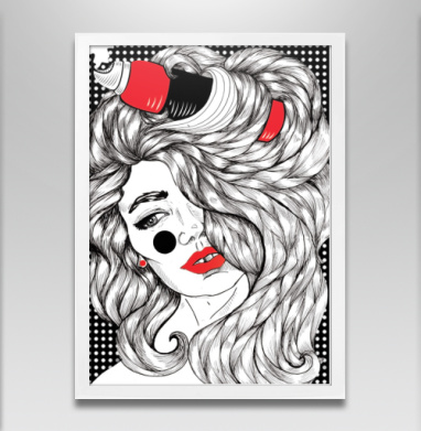Контраст - Постер в белой раме, текстура
