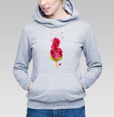 Арбузное мороженное - Купить детские толстовки с акварелью в Москве, цена детских  с акварелью  с прикольными принтами - магазин дизайнерской одежды MaryJane