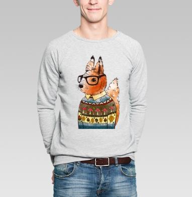 Белка-хипстер - Купить мужские свитшоты нежность в Москве, цена мужских  нежность  с прикольными принтами - магазин дизайнерской одежды MaryJane