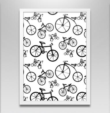 Велосипед - Постер в белой раме, велосипед