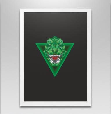 Тирано - Постер в белой раме, геометрия