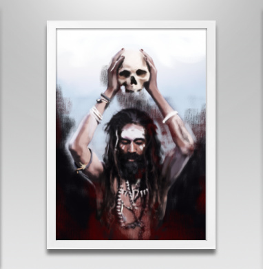 Возрождение души - Постер в белой раме, индеец
