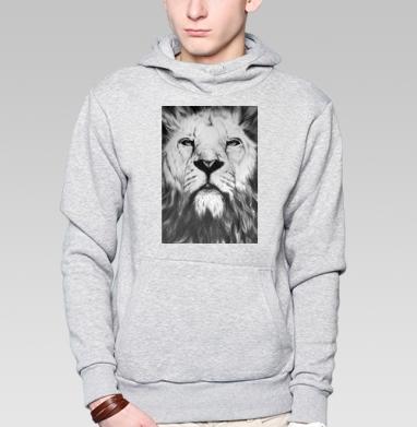 Черно-белый лев - Толстовки.