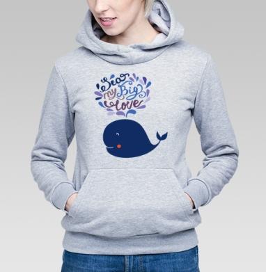 Милый кит - Купить детские толстовки морские  в Москве, цена детских  морских   с прикольными принтами - магазин дизайнерской одежды MaryJane