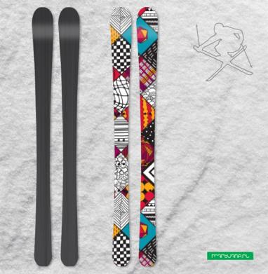 Графический узор - Наклейки на лыжи
