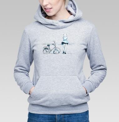 Счастье - Купить детские толстовки с велосипедом в Москве, цена детских толстовок с велосипедом  с прикольными принтами - магазин дизайнерской одежды MaryJane