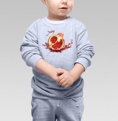 Сочный гранат - Купить детские свитшоты с фруктами в Москве, цена детских свитшотов с фруктами  с прикольными принтами - магазин дизайнерской одежды MaryJane