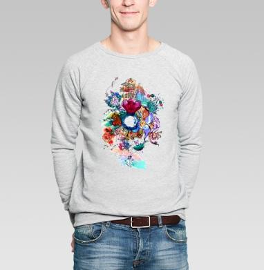 Имэджин - Купить мужские свитшоты с акварелью в Москве, цена мужских  с акварелью  с прикольными принтами - магазин дизайнерской одежды MaryJane
