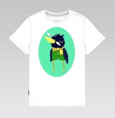 Детская футболка белая 160гр - Воронушка