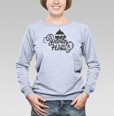 Путешествие - мой дом - Купить женские свитшоты с автомобилями в Москве, цена женских свитшотов с автомобилями  с прикольными принтами - магазин дизайнерской одежды MaryJane