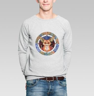 Тотемный лис - Купить мужские свитшоты с природой в Москве, цена мужских свитшотов с природой  с прикольными принтами - магазин дизайнерской одежды MaryJane